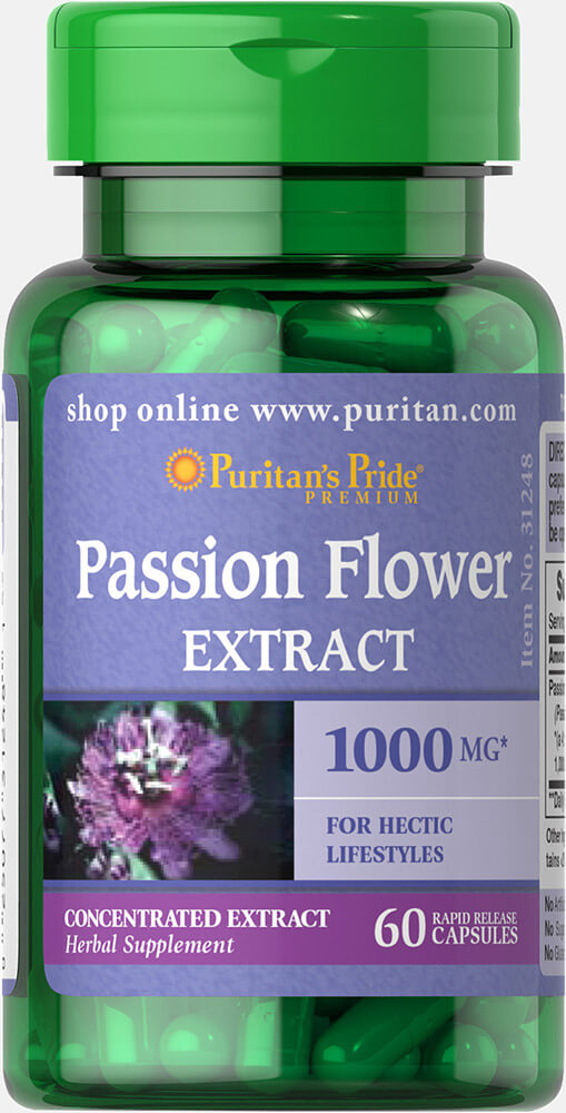 Passion Flower 1000 mg 60 Capsules | Passion Flower ... Traditional Medicinals Tea
